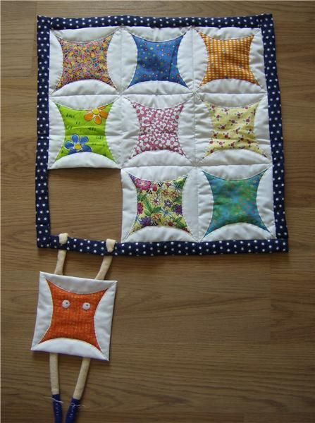 Doll quilt - Veronica Johnson | This is just perfect! Love the sense of humor. I need one of these. look for other blocks to use thisw