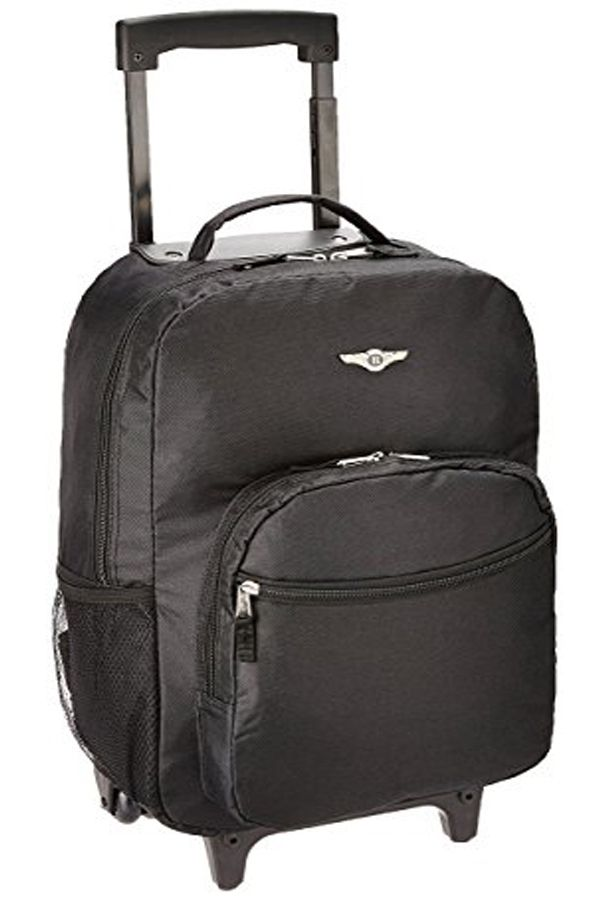 0c6a4b64101d Rockland Luggage 17 Inch Rolling Backpack, Black, Medium | Backpacks ...