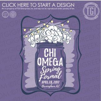 Chi Omega | Chi O | ΧΩ | Spring Formal | Formal | Formal Shirt | TGI Greek | Greek Apparel | Custom Apparel | Sorority Tee Shirts | Sorority T-shirts | Custom T-Shirts