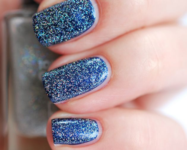 Blue sprinkle nails, Beautylab.nl!