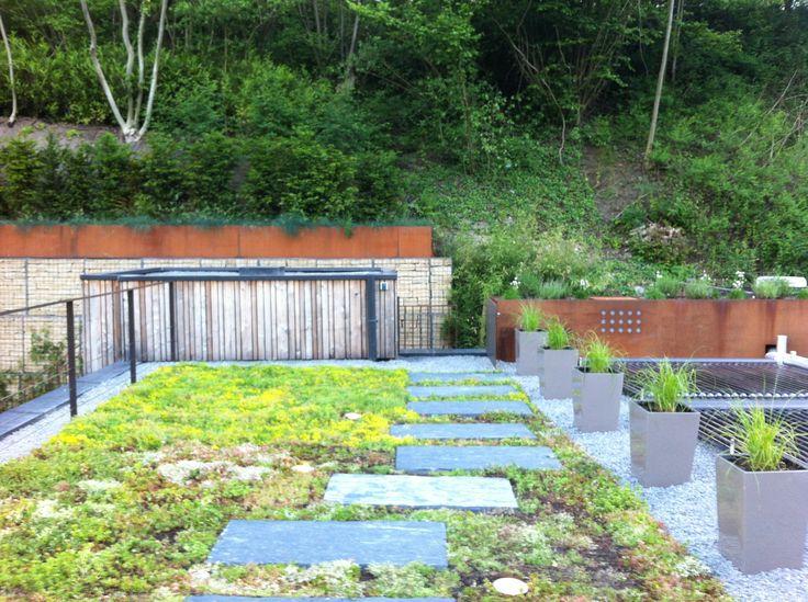 Aménagement d une terrasse en toiture _ Luxembourg