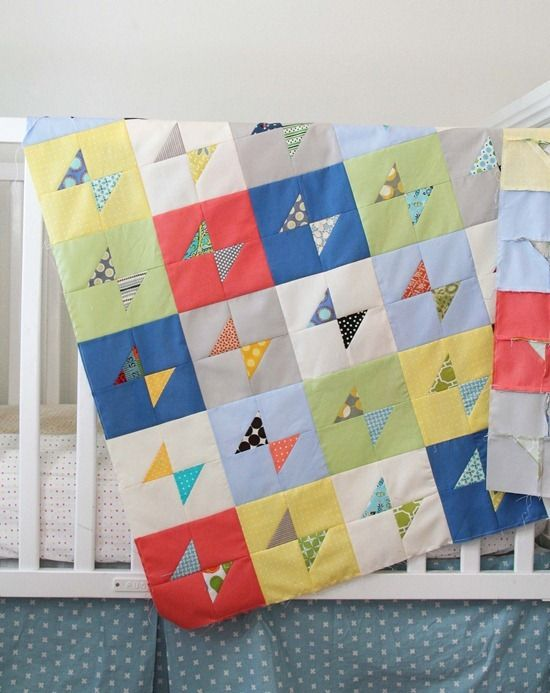 I really dig the colors in this charity quilt by Allison Harris of Cluck Cluck Sew.