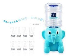 Бесплатная доставка 8 чашки мультфильм мини диспенсер для воды слон миниатюрный circleof 8 очки диспенсер для воды подарок детям купить…