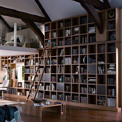View all our living room ideas, like this double height book shelf