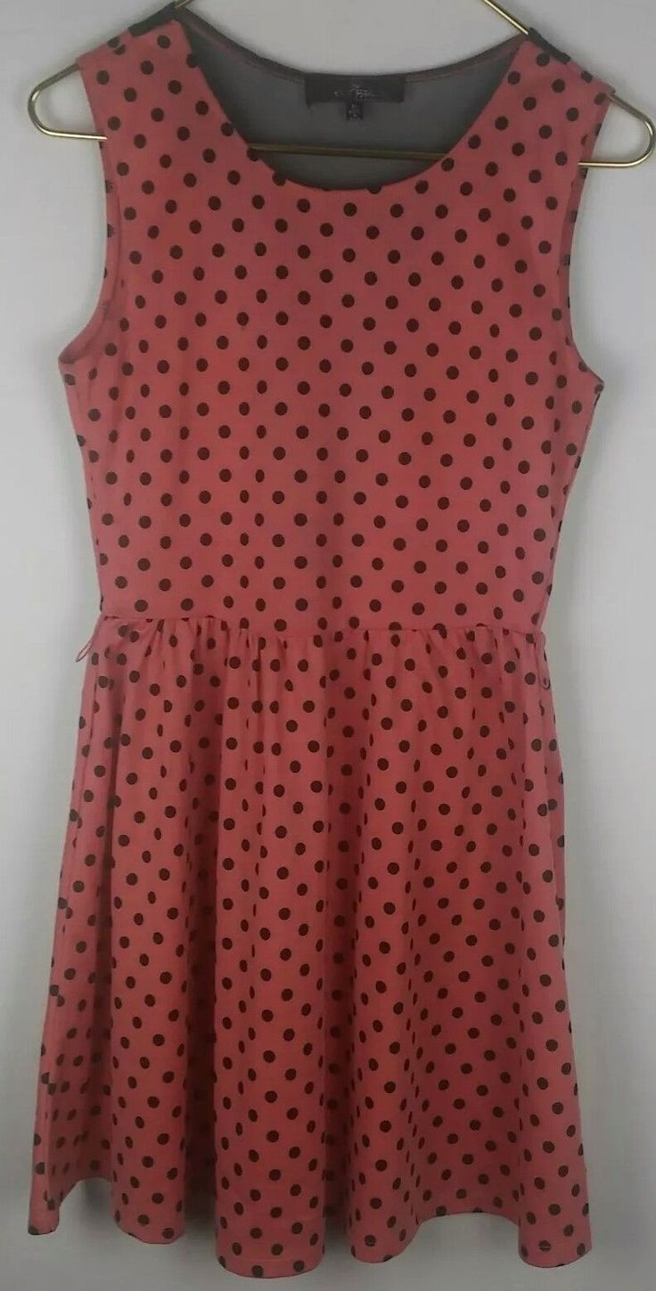 Cool Awesome Almost Famous Womens Juniors Salmon Dress With Black Polka Dots Size M. z03  Cool Check more at http://24shopping.tk/fashion-clothes/awesome-almost-famous-womens-juniors-salmon-dress-with-black-polka-dots-size-m-z03-cool/