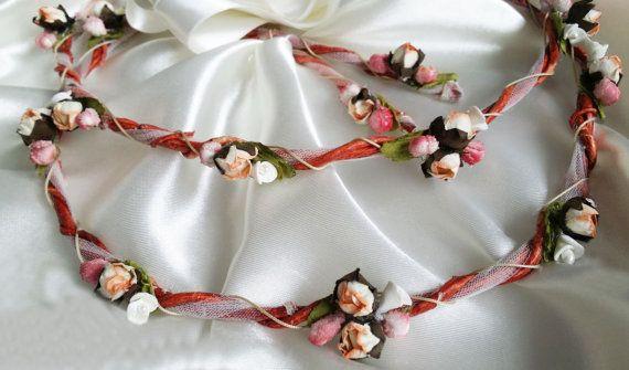 Boho Chic Wedding Crowns Rustic Floral by PreciousandPrettygr