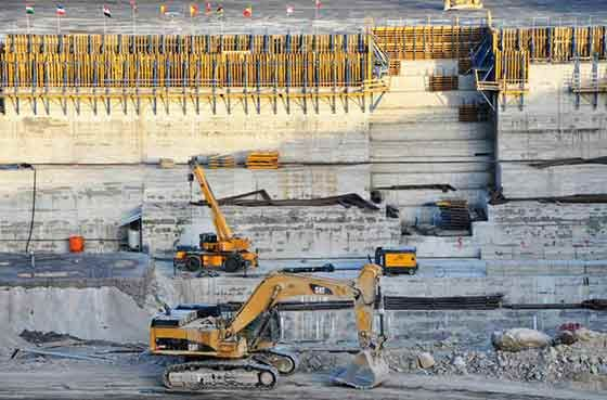 """Ethiopia is building a massive hydroelectric dam on the Nile River. The dam is named """"The Grand Ethiopian Renaissance Dam"""". The project is over 40% completed and when it is done it will produce 6000MW clean energy."""