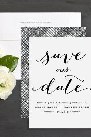 white and black wedding stationery save the date brides of adelaide magazine