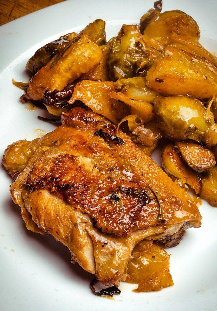 Курица с апельсином и розмарином
