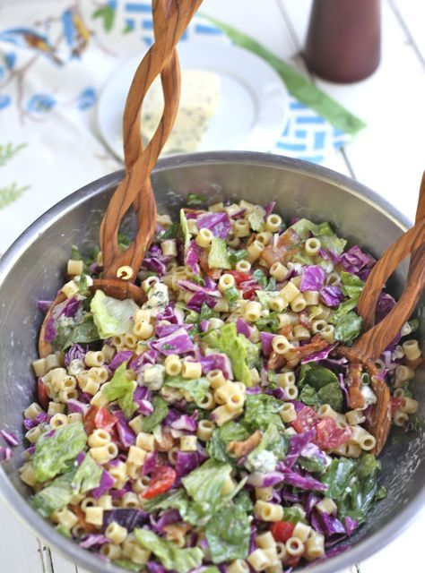 Chopped Pasta Salad with Honey Mustard Dressing (AQ-I just made this and it is easy and delicious! Though next time the blue cheese will be an option on the side.)