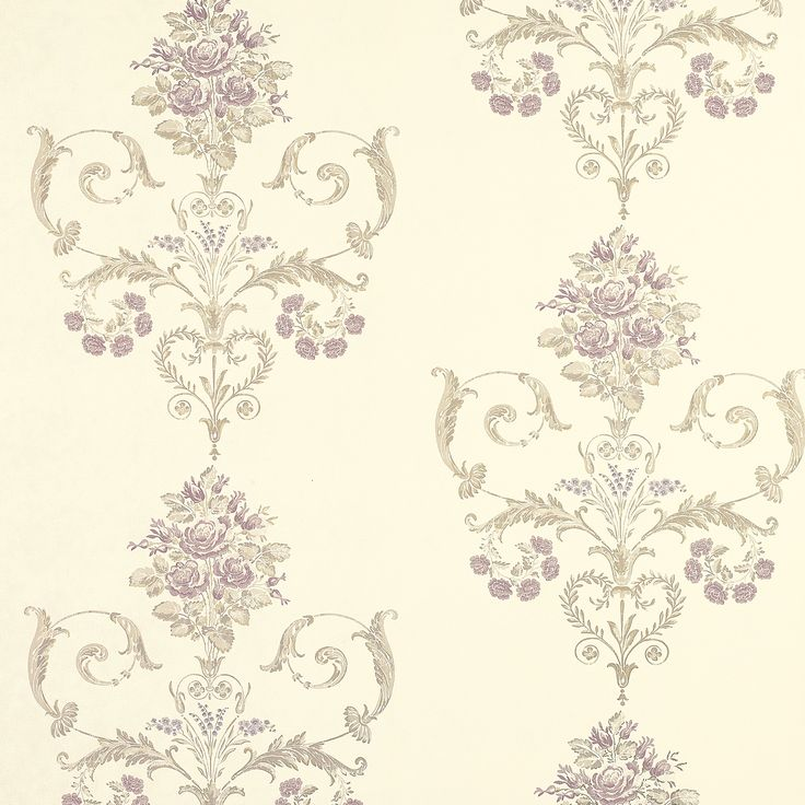Henrietta Lavender Floral Wallpaper At Laura Ashley