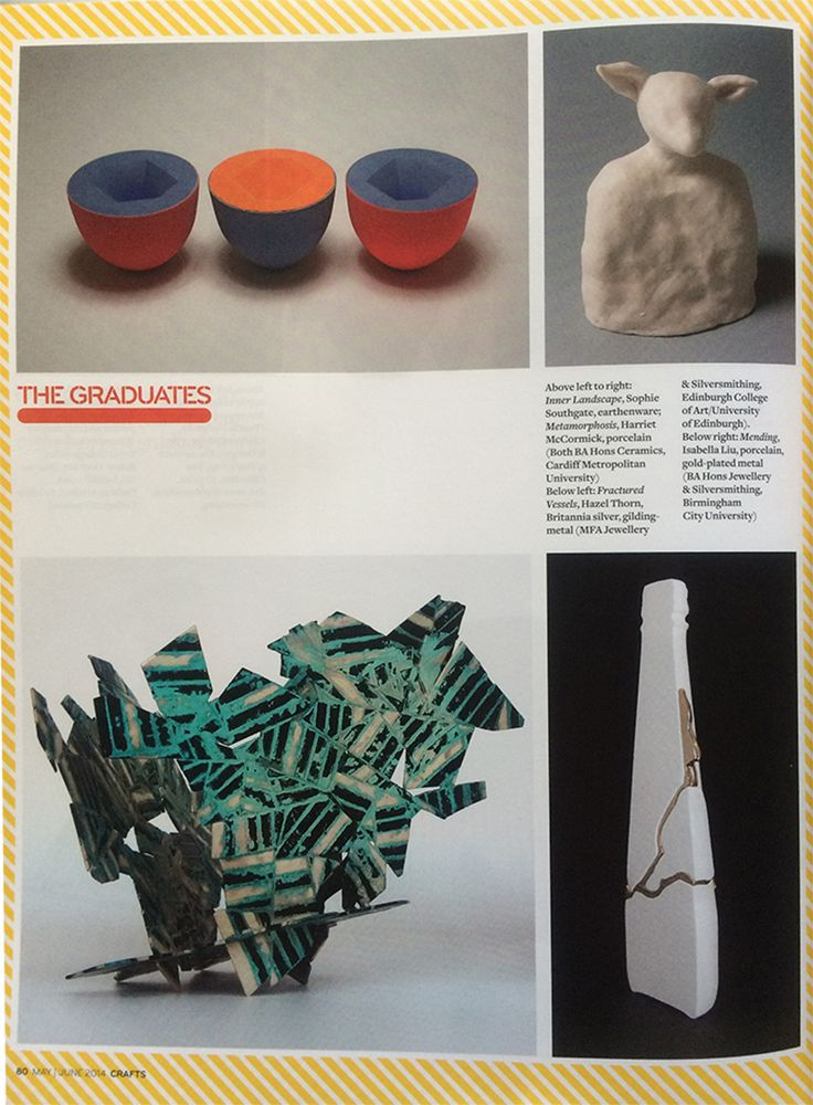 2014 – Craft Magazine features Isabella Liu in 'The Graduates Top' Volume at May/June 2014 issue.[copyright reserved to @IsabellaLiu]