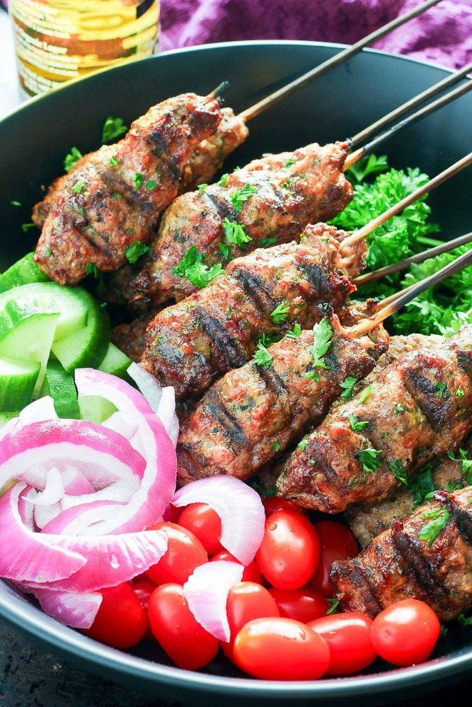 Make These Ground Beef Kebabs With Or Without Skewers On The Grill Or In The Oven One Of The Easiest Bbq Recipe Kebabs On The Grill Beef Kebabs Kebab Recipes
