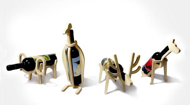 Leuke en decoratieve wijnfleshouders door Yvette