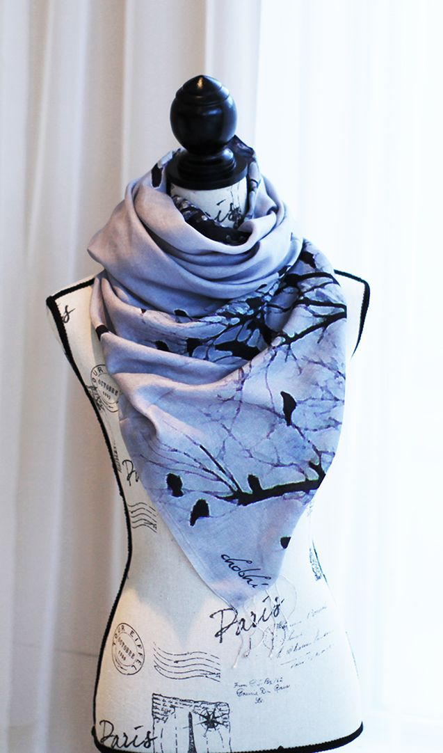 Nature Photographic Scarf Handmade from 100% Wool by CHOBHI