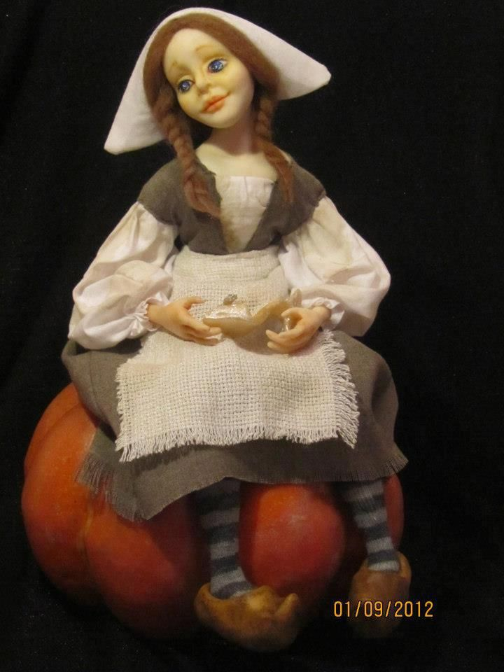 handmade doll by Vafa, FIMO puppen