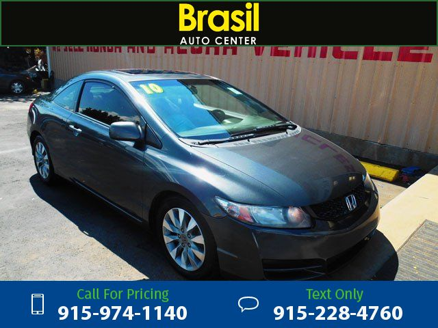 2010 Honda Civic EX-L Coupe 5-Speed AT with Navigation Gray $7,995 93370 miles 915-974-1140 Transmission: Automatic  #Honda #Civic #used #cars #BrasilAutoCenter #ElPaso #TX #tapcars