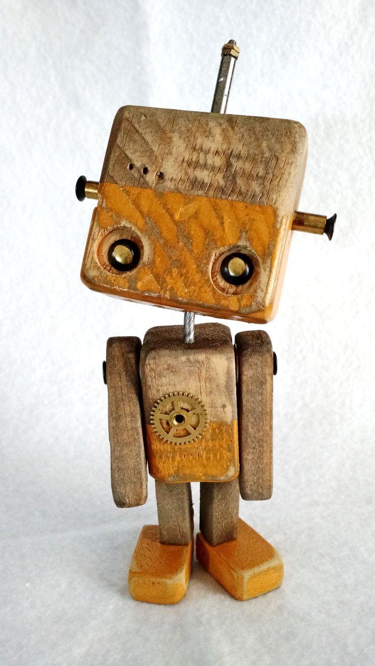 Série Robos em medeira – Wood Robots – 003