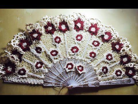 Tutorial Abanico ELISA DANIELA crochet paso a paso Handmade Crochet Fan