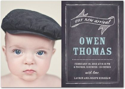 Boy Photo Birth Announcements Todays Special - Front : Peppermint #TinyPrintsBaby
