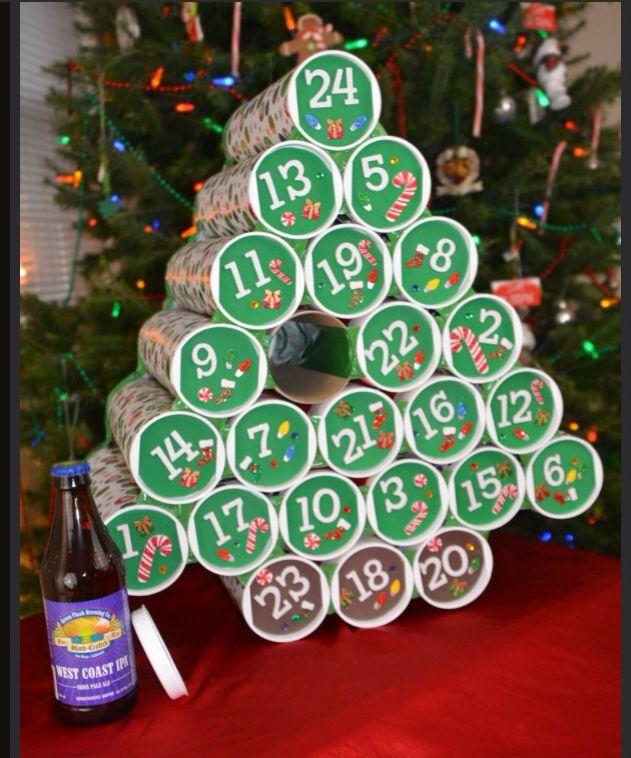 beer christmas calendar crafts calendario navidad. Black Bedroom Furniture Sets. Home Design Ideas