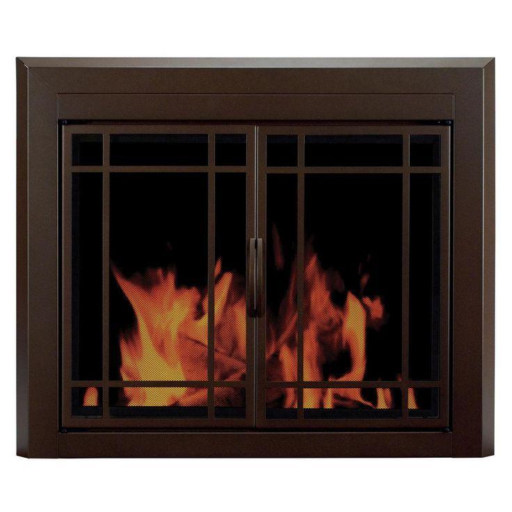 Best 25+ Glass fireplace doors ideas on Pinterest | Fireplace ...