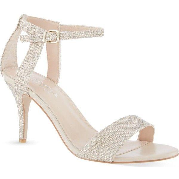 CARVELA Kollude metallic heeled sandals ($140) ❤ liked on Polyvore
