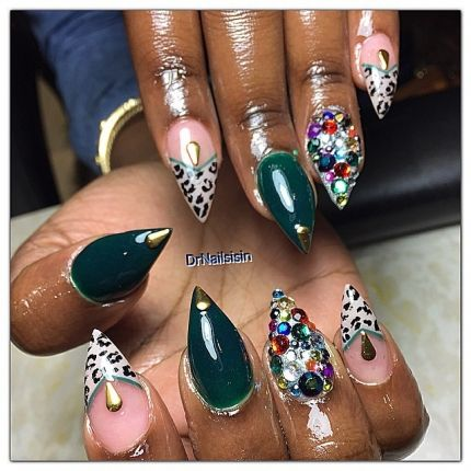 The 25 best long pointed nails ideas on pinterest long nails nail trends nail art nail designs long nails round nails pointed prinsesfo Gallery
