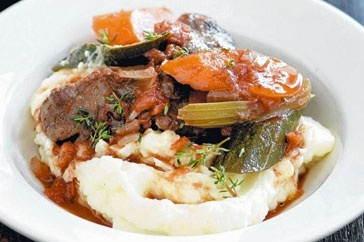 Slow-cooked beef & red wine casserole