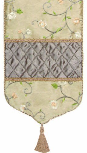 Jennifer Taylor 2747-575576 Table Runner, 16-Inch by 90-Inch, Cover 100-Percent Polyster by Jennifer Taylor. $131.98. Table runner cover 100-percent polyster. Home decor brings classic style and luxurious comfort to the home. With tassels and cord and braid. Jennifer Taylor Table Runner, 16--inch by 120-inch, Cover 100-percent polyster, with braid and tassels, Classic Style, home-decor-products. Save 42% Off!