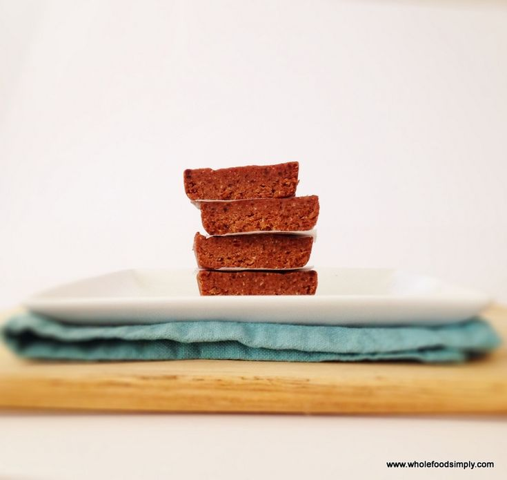 Choc Peanut Butter Bars - Wholefood Simply