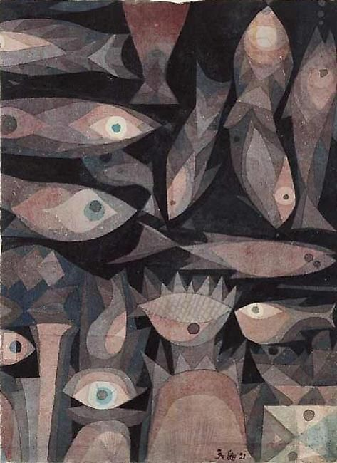More Bauhaus Fish by Klee-- I wish I could get prints of these