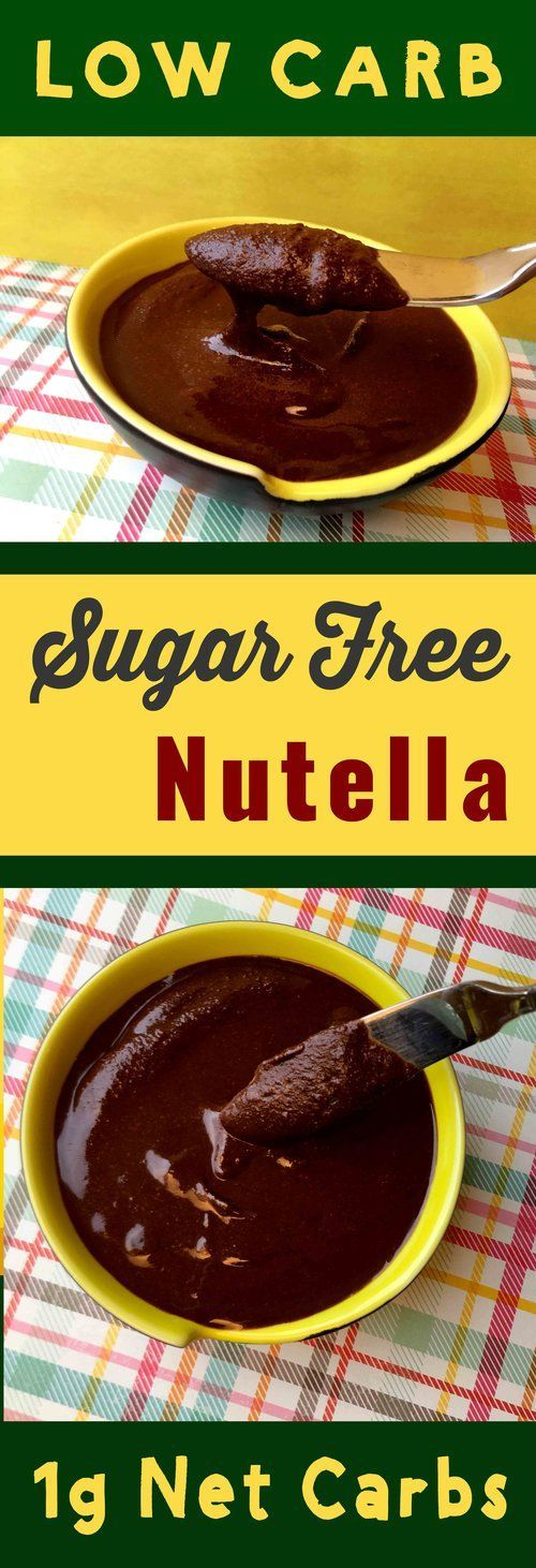 This recipe for Sugar Free Nutella s is Keto, Atkins, THM, Paleo, Sugar Free and Gluten Free. Sweet!