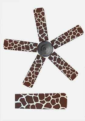 Air Supply Depot Home Decor Ceiling Fan Blade Cover Animal Print Brown Giraffe
