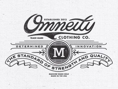 Clothing Logo on showcase of retro vintage style logo designs