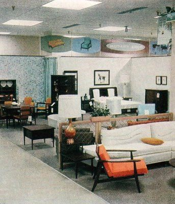 14 best Montgomery Wards Mid Century Modern images on Pinterest     Wards store late 1950s