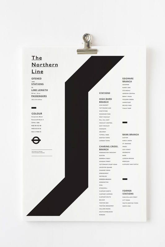 L'Australien Nick Barclay imagine une série d'affiches minimalistes illustrant chacune des lignes du transport en commun ...