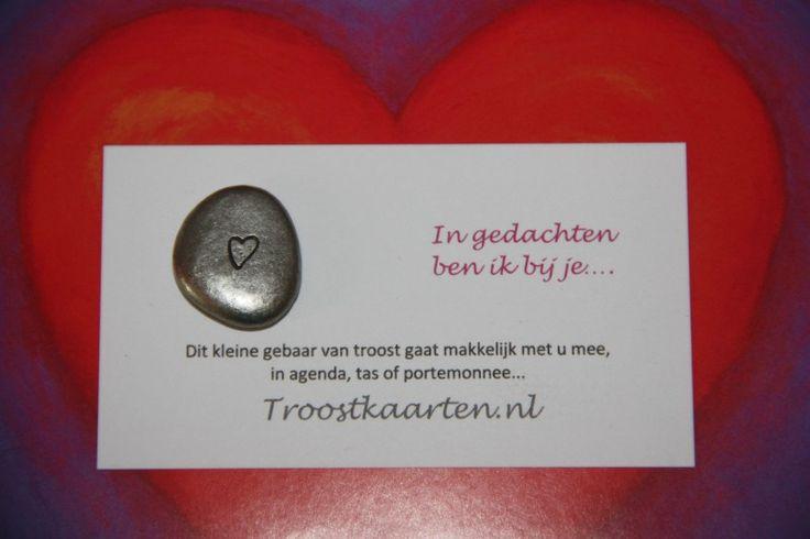 Trooststeentje Hart (7702) | Cadeautjes | Troostkaarten.nl