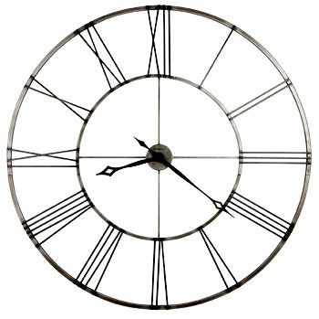 44 best images about large wall clocks on pinterest antique gold peeps and antiques - Large brushed nickel wall clock ...