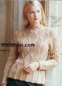 вязаный-пуловер-спицами