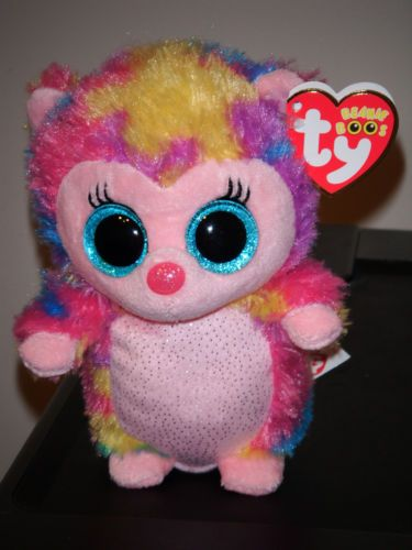 """Ty 6"""" Multi Colored Hedgehog Beanie Baby Boo's 2013 New Exclusive RARE   eBay"""