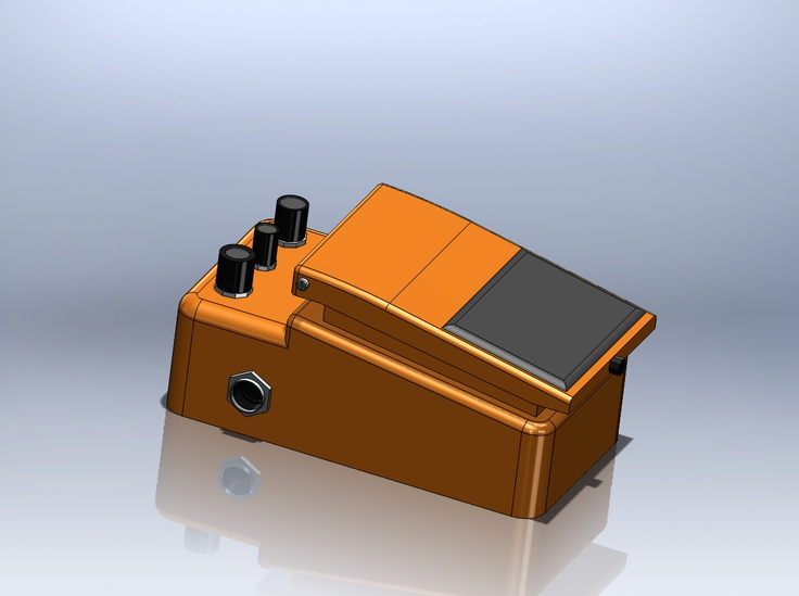 Luxury A sketch of a Boss Pedal done on SolidWorks by Jose Ramirez Adame