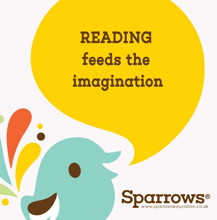 Encourage your Children to be READERS! Reading feeds the imagination! #children #reading #imagination #sparrows #education www.sparrowseducation.co.uk