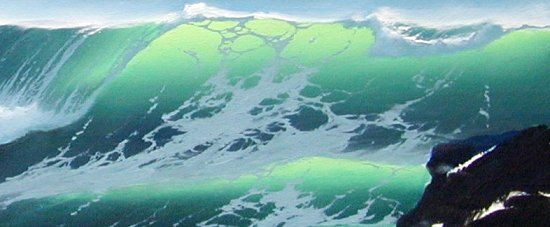 watercolor waves | How to paint a breaking ocean wave, oil ...
