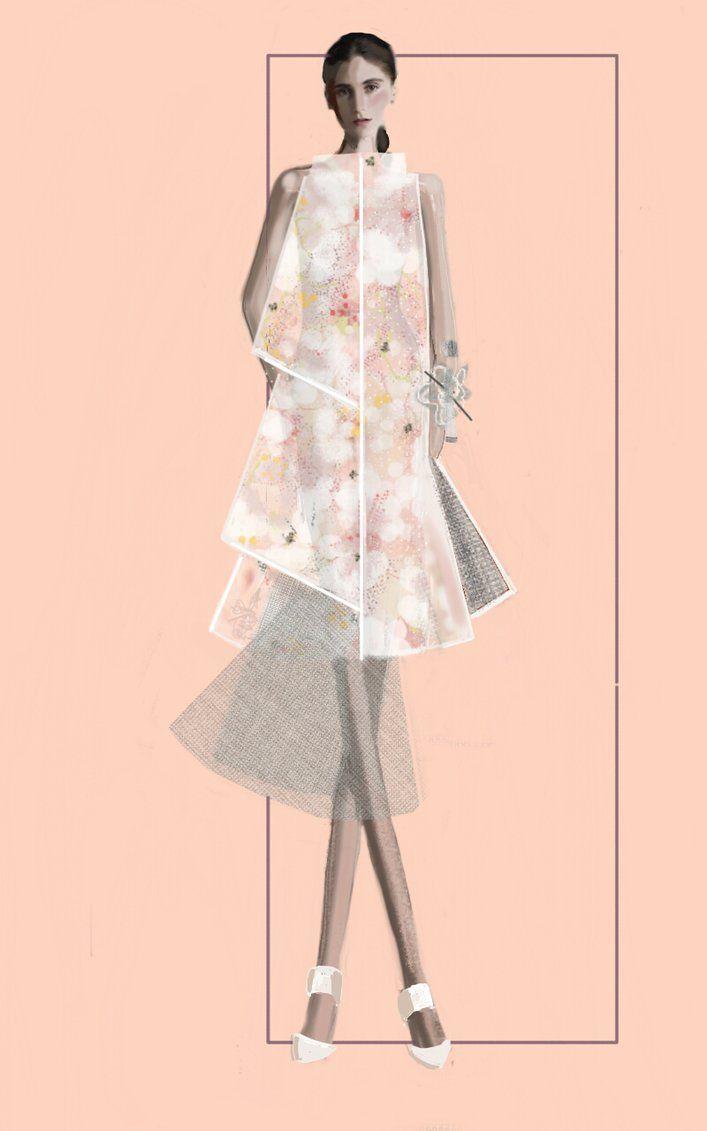 """ Hanami"" Sketch | Stefania Belmonte | my collection | Fashion Illustration"