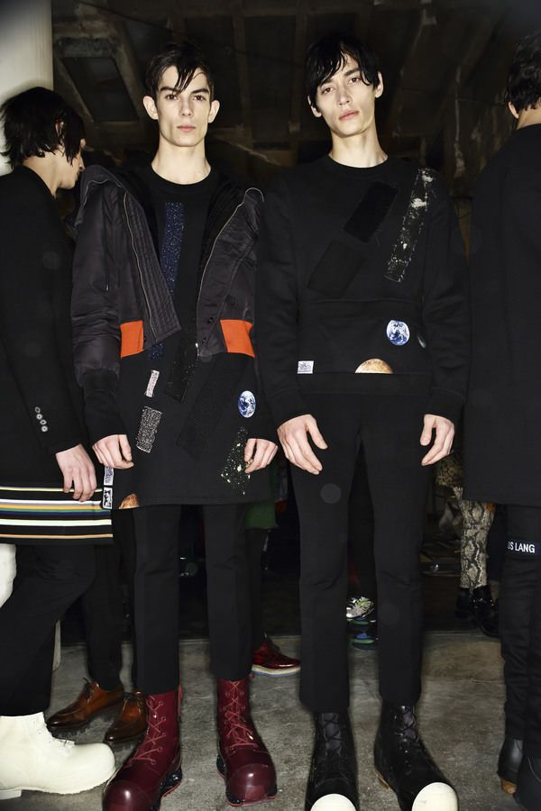 Backstage at Raf Simon / Sterling Ruby show, more pics here http://sonnyphotos.com/2014/01/raf-simons-sterling-ruby-aw14-15-men-fashion-show-paris-backstage