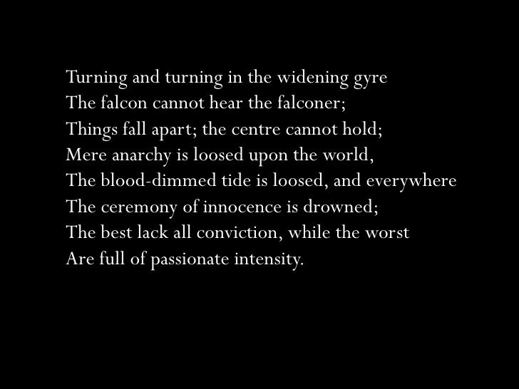 a literary analysis of the poem the second coming by william butler yeats Arkins, brian all thing doubled: the theme of opposites in w b yeats   deane, seamus `the second coming': coming second coming in a second.