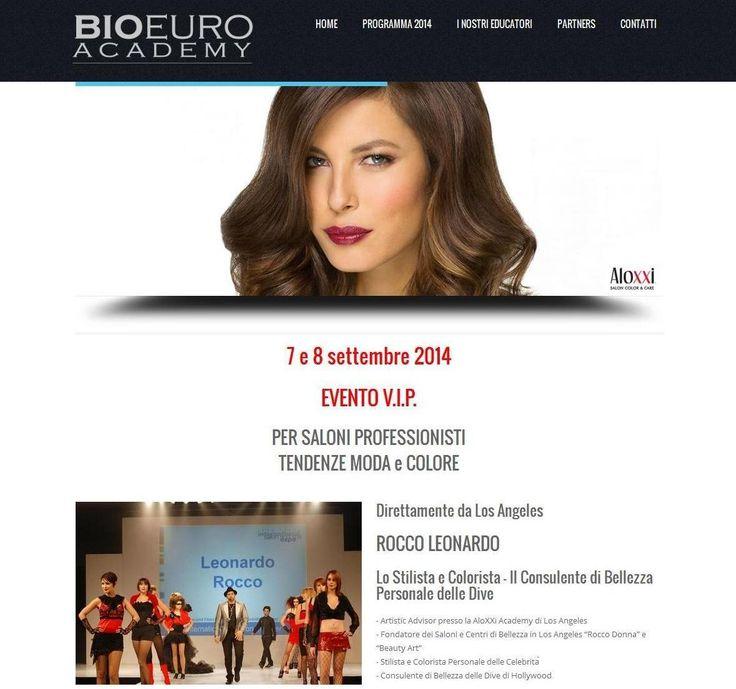 Anche il sito della Bio Euro Academy ha pubblicato in homepage un ricco richiamo all'evento VIP del 7 e 8 settembre con George Schaeffer e Leonardo Rocco! Un evento unico, per tutti i parrucchieri italiani! Visitate www.bioeuroacademy.eu per trovare tutte le informazioni e i contatti ;-)