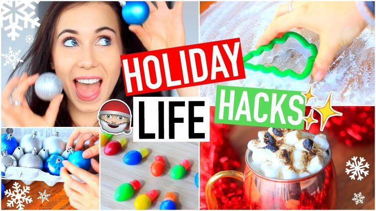 DIY Holiday Life Hacks! Holiday Life Hacks! Life Hacks For The Holidays! Easy DIY Holiday Life Hacks! Pinterest Holiday Life Hacks Tested! DIY Holiday Treats! Holiday Life Hacks Everyone MUST Know!