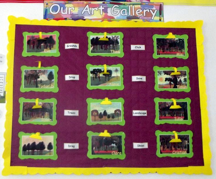 School Years ICT display Art Gallery @Acorns Nursery Bucharest